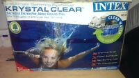 Intex Crystsl clear saltwater system with pump for Above Ground