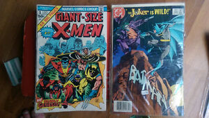 Giant size X-Men number 1 1975 and Batman 366 December 3rd '83