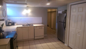 Spacious one bedroom/studio basement apartment available July 1