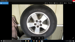 aluminum rims and Michelin tires for Ford Escape, Mazda Tribute