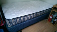 Sealy Aria SINGLE BED, boxspring and frame INCLUDED