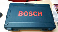 Bosch 14V drill case, charger, handle, drill bit set