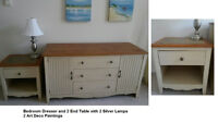 Bedroom Dresser & 2 End Tables - Excellent Condition!