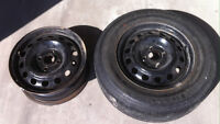 Tire and rims for sale.