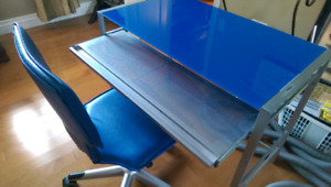 Desk and chair set - Blue