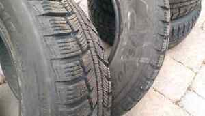 4 Minerva winter tires, 215/70R16 barely used West Island Greater Montréal image 4