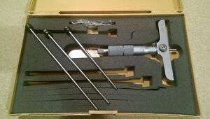 """Depth Micrometer, 0 to 6"""" with 4"""" base (by MITUTOYO)"""