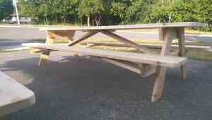 Cedar picnic table (built and ready for sale) Peterborough Peterborough Area image 4