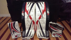 Full Set Of Goalie Gear - Brians Pads, Glove & Blocker, And More