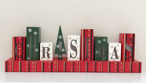 Luminous Wooden Christmas Sign