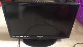 "Digitrex 19"" built in DVD player TV"