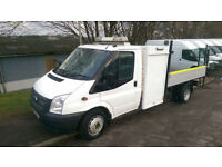 FORD TRANSIT 350 TIPPER AND STORAGE BOX 125 BHP 6 SPEED RWD TWIN WHEEL
