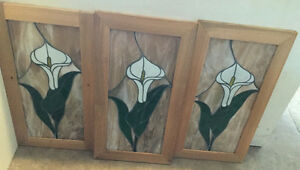 Vintage Leaded Stained Glass Windows.