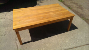 Solid Pine Coffee table- $20.00
