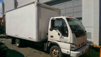 Isuzu NPR Cube Van 16' Box with Lift Gate