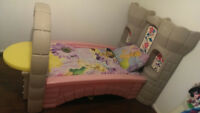 TODDLER TO TWIN BED & BEDDING, TOYBOX, MATTRESS