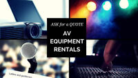 Sound System RENTALS starting as low as $75 per weekend