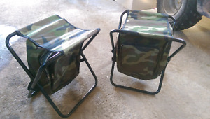 Camo cooler backpack chairs