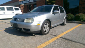 2002 Vw Golf GLS Hatchback Safety and E-test snow tires on rims