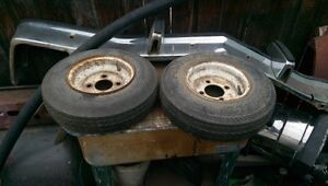 small 4 bolt trailer tires and rims 10.00 each