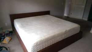 Sealy memory foam king size bed and ikea malm frame