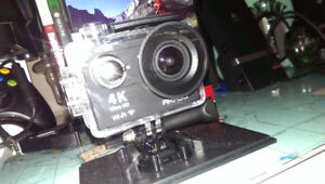 Akasko action cam smaller than a go pro 4k display and pictures/