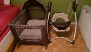 Balancoire graco neuve et parc pour bebe avec matlas
