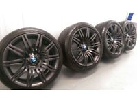 "Genuine BMW 5 6 Series 19"" Spider 172 M Sport Alloy Wheels & Tyres Spyder E60 E61 5x120"