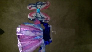 Fairy pixie halloween costume size 4 to 6 blue and purple colour