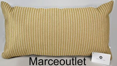 """Hotel Collection Bedford Geo Embroidered 12"""" x 22"""" Decorative Pillow Gold"""