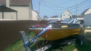 Fishing boat 80HP with trailer