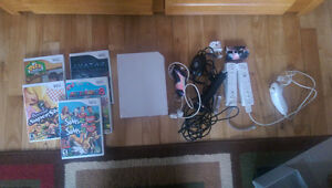 Console Wii manettes jeux micro
