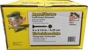 "Pro-Twist 2-1/2"" Coarse Screws for $24.99 per Box (6030 50 St)"