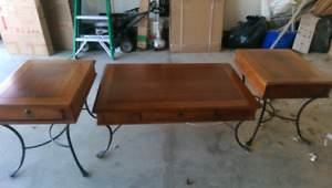 Coffee table and 2 end table set