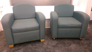 Two green chairs $100 for both