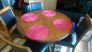 Moving Sale - Dining Set (5 piece) wood, excellent condition