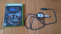 X-Box 360 w/ wireless adapter + headset, controllers and games