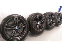 "Genuine Bmw 3 4 Series 18"" 441 M Sport Alloy Wheels & Tyres F30 31 32 33 E90 91 92 e46 z4 400m"