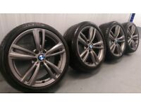 "Genuine BMW 3 4 Series 19"" 442 M Sport Alloy Wheels And Tyres F30 F31 F32 F33 E90 E92 Z4 Ferric"