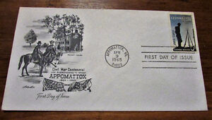 TWO 1965 Appomattox Civil War Centennial 5 Cent First Day Covers Kitchener / Waterloo Kitchener Area image 2