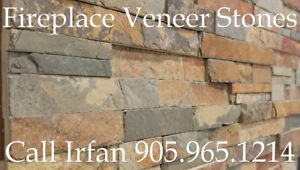 Quartz Fireplace Veneer Stone Walling Stone Decoration TV