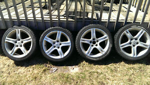 "17"" Alloy Rims with free winter tires 215/45r17 mounted"