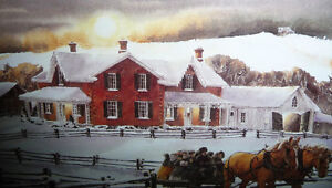 """Walter Campbell """"Country Homestead"""" Country Winter Scene Stratford Kitchener Area image 5"""