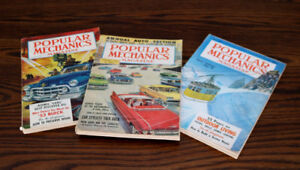 Popular Mechanics magazines - from the 1950's (lot of three)