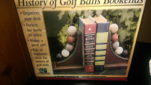 HEAVY SET OF VINTAGE -GOLF -BALL -  BOOKENDS