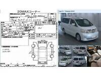 FRESH IMPORT 2007 57 PLATE FACE LIFT TOYOTA ALPHARD 3.0 V6 VVTI AUTO GRADE 4.5B