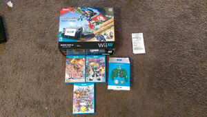 Wii U Mario Kart with controller + 3 games + boxes + receipt
