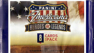 Panini Americana Heroes & Legends 2012 Retail 8-Pack Lot