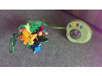 Rainforest mobile with box and remote