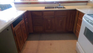 Kitchen Cabinets, Solid Oak fronts